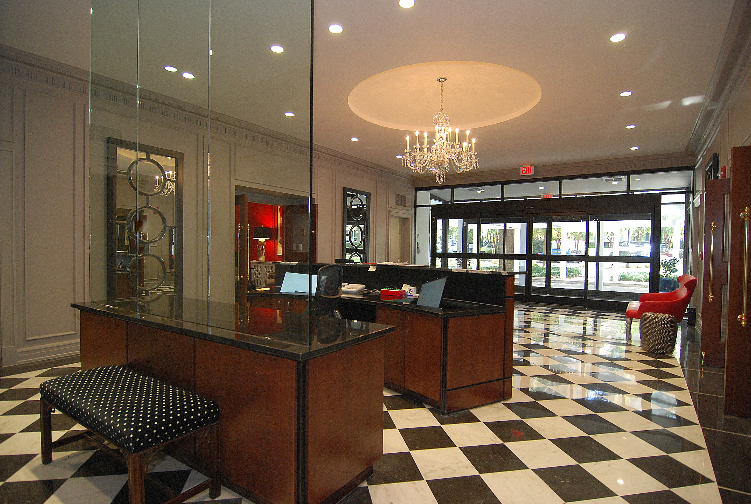 The Heritage- Main Lobby and Doorman Desk