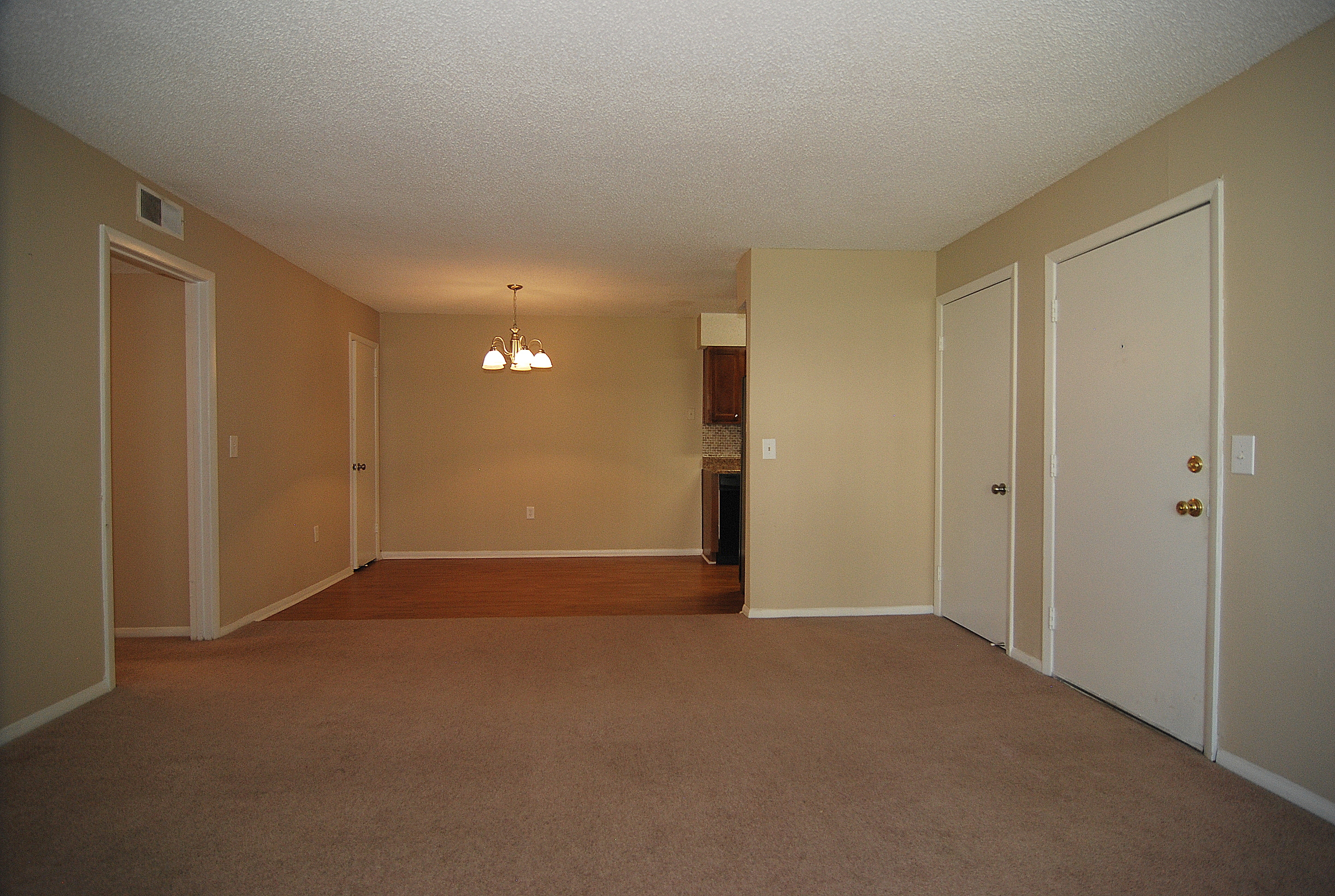 Carriage Place - Typical 2 BR 2 BA Living and Dining Rooms